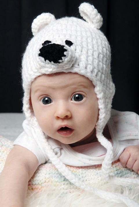 Portrait de bébé Mia (3 mois), réalisé à domicile